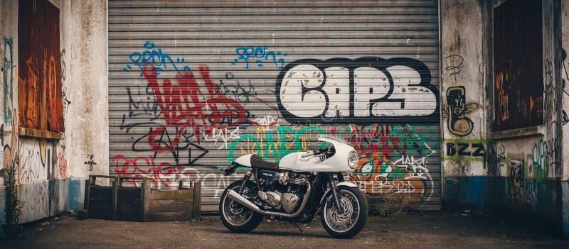 Thruxton 1200 di Triumph immagine stock