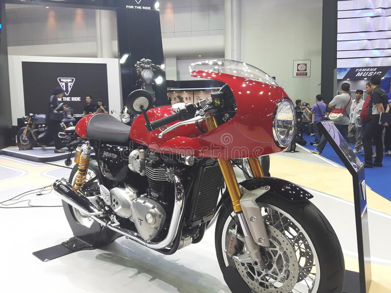 Thruxton R Cafe racer triumph. New Thruxton R cafe racer from triumphmotorcycle stock images