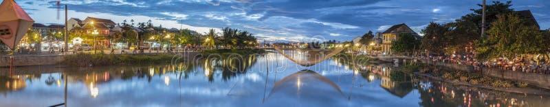 Thu Bon River in Hoi An, Vietnam stock images