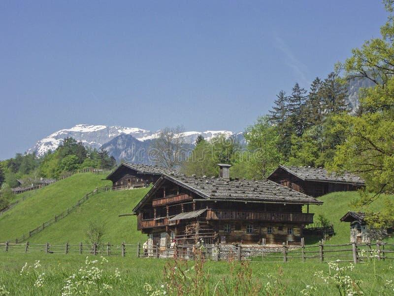 Thuis in Tirol in Oostenrijk stock afbeeldingen