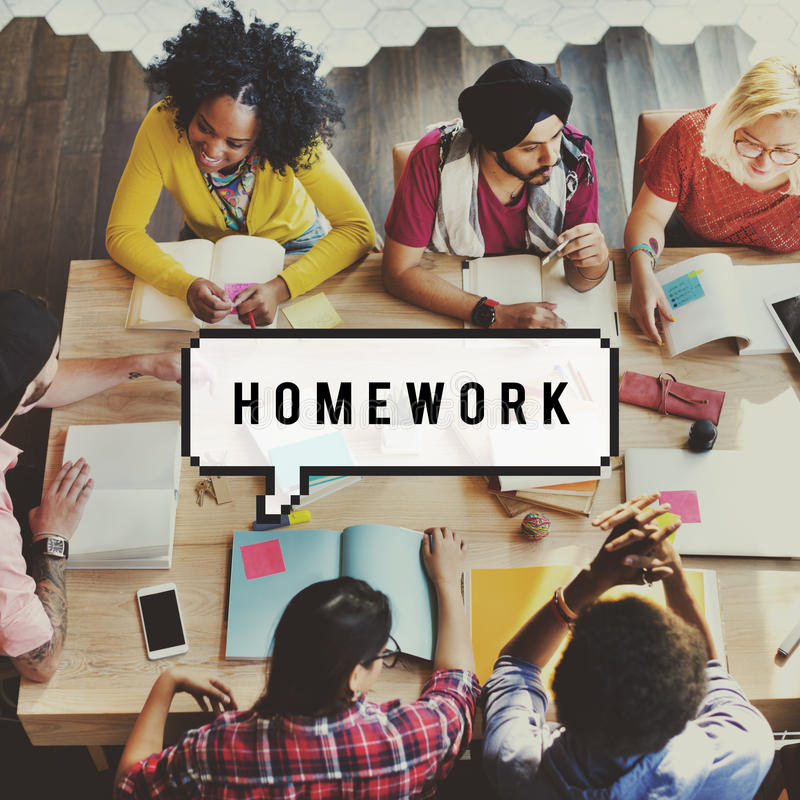 Thuiswerkonderwijs Academisch het Leren Studieconcept stock afbeeldingen