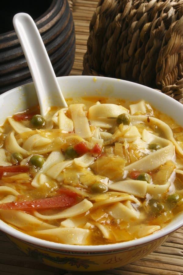 Thukpa Gya Thuk -Tibetan style noodles in soup royalty free stock photo