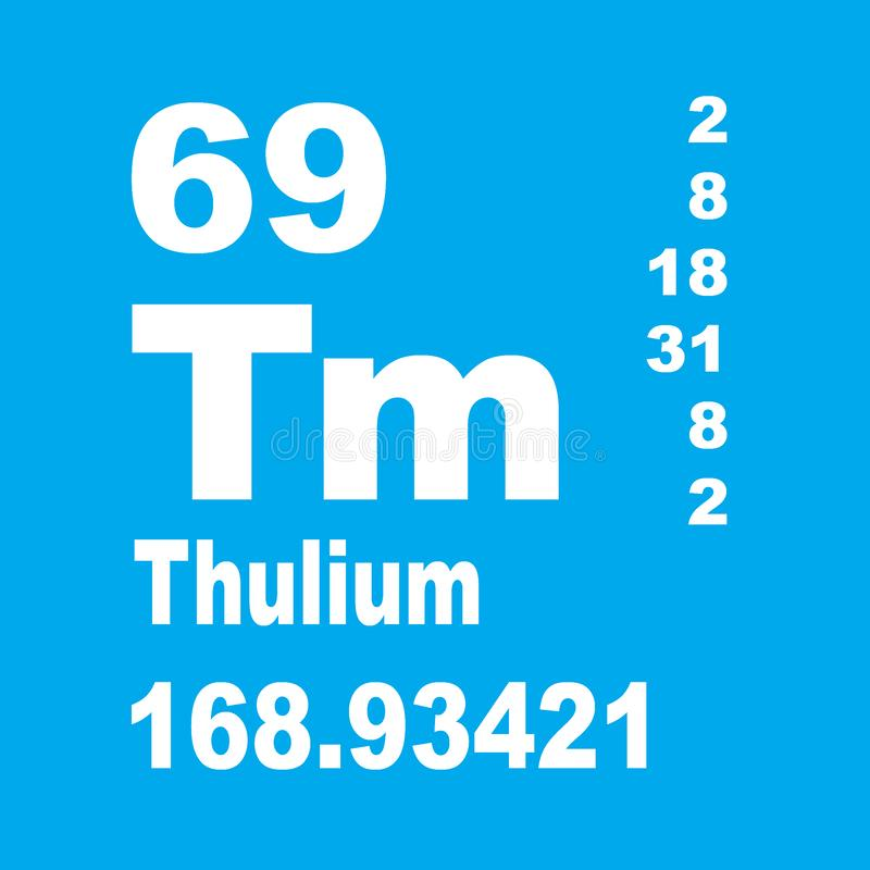Thulium periodic table of elements royalty free illustration