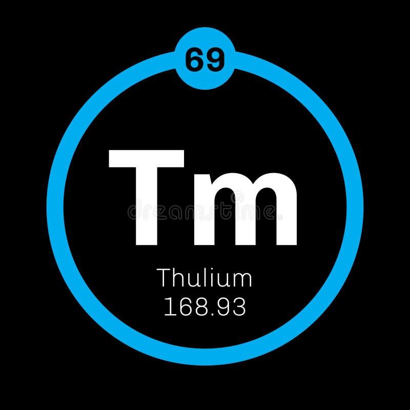 Thulium chemisch element stock illustratie