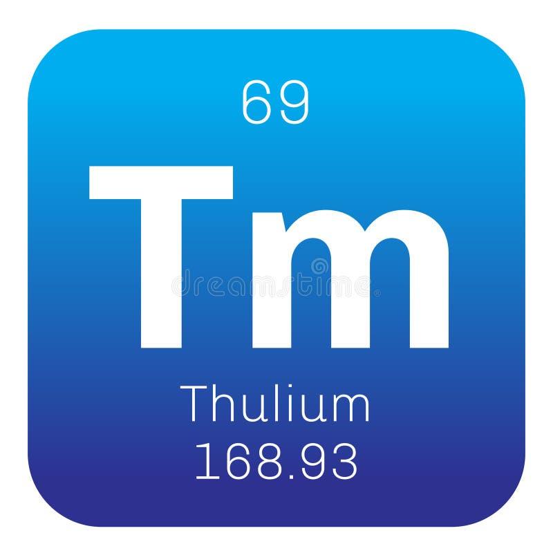 Thulium chemisch element royalty-vrije illustratie