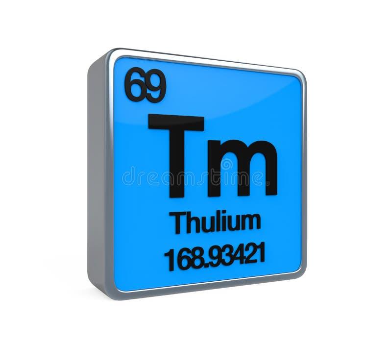 Thulium elementu Okresowy stół ilustracji