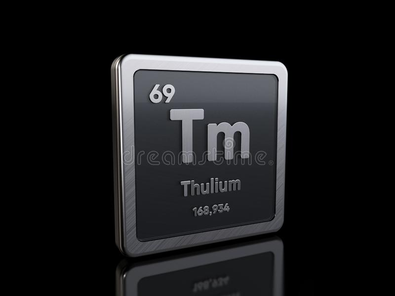 Thulium Tm, element symbol from periodic table series royalty free illustration
