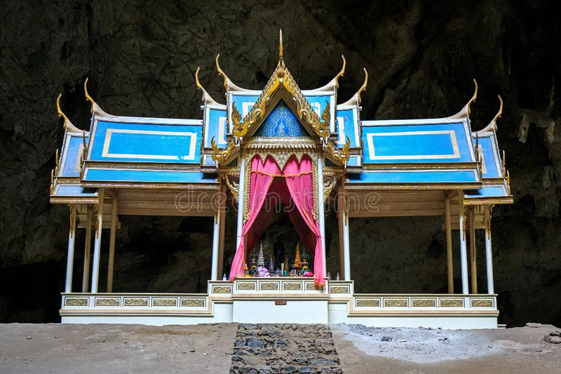Thum Phraya Nakhon jama lokalizuje w Khao Sam Roi Yot parku narodowym Prachuapkhirikhan, Tajlandia obraz royalty free