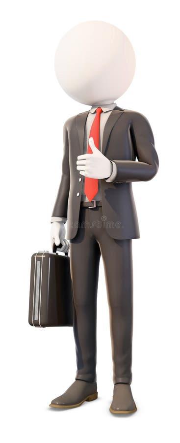 Thumb вверх по бизнесмену стоковая фотография rf