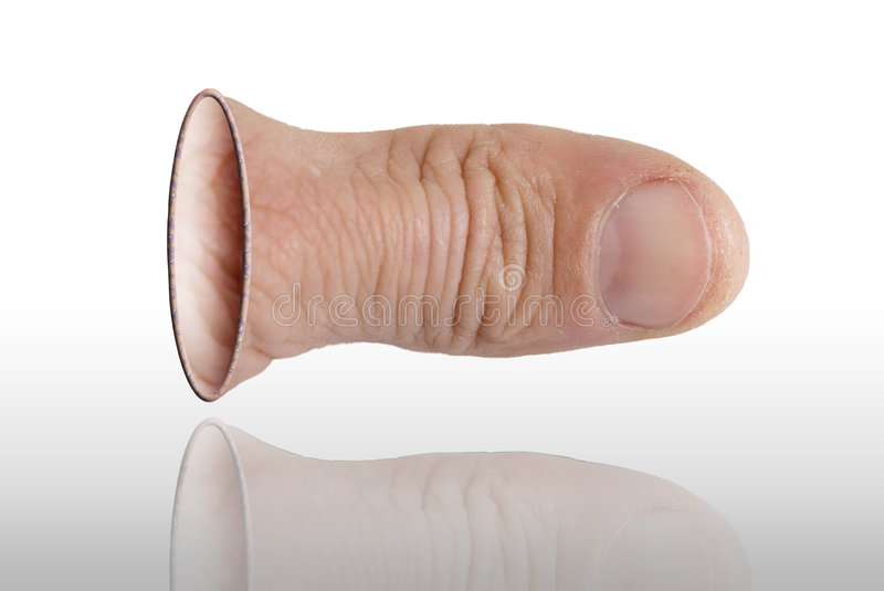 The thumb stock photo