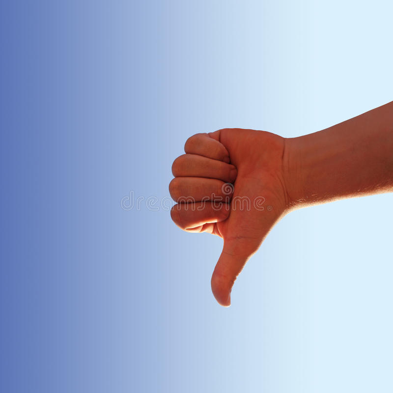 Download Thumb down stock image. Image of business, finger, decline - 23435443