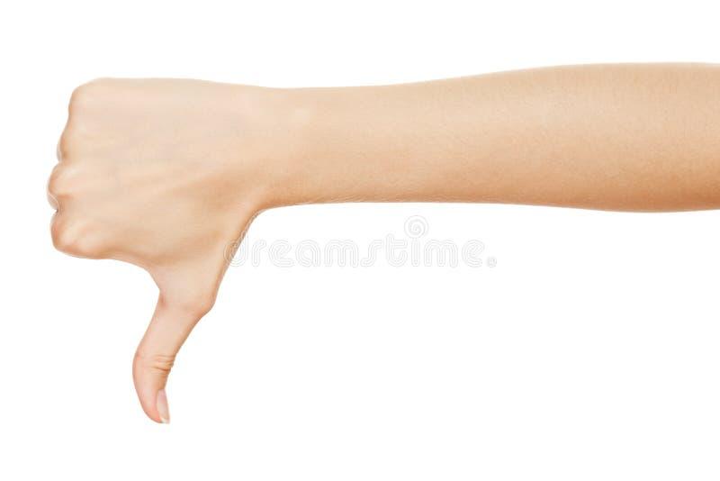 Download Thumb down stock photo. Image of gesture, symbol, closeup - 25753422