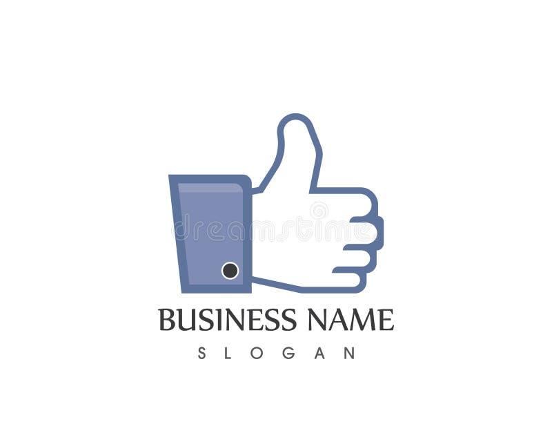 Thumb hand logo template royalty free illustration