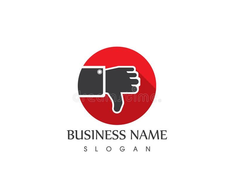 Thumb hand logo template stock illustration