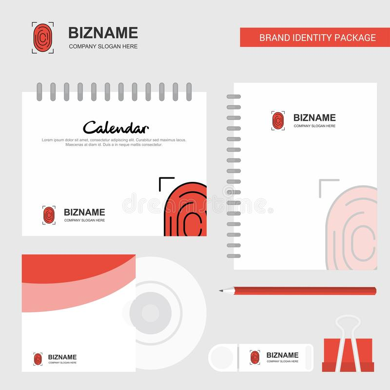 Thumb Impression Logo, Calendar Template, CD Cover, Diary and USB Brand Stationary Package Design Vector Template. This Vector EPS 10 illustration is best for vector illustration