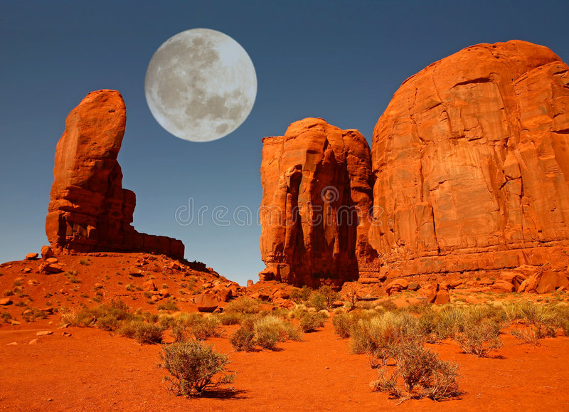 The Thumb Monument in Monument Valley Arizona royalty free stock images