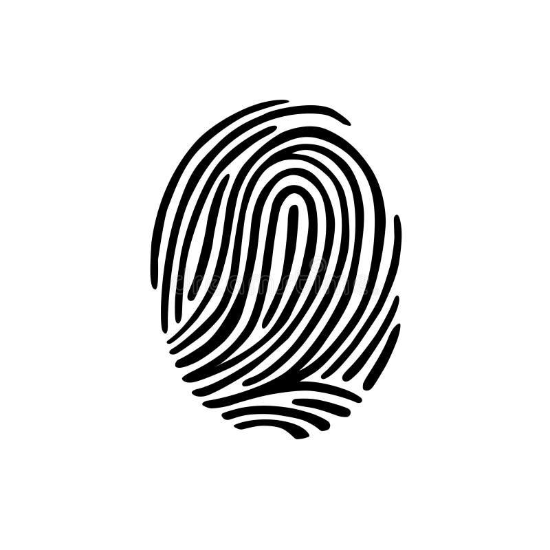 Thumb print fingerprint vector illustration. Eps 10 stock illustration