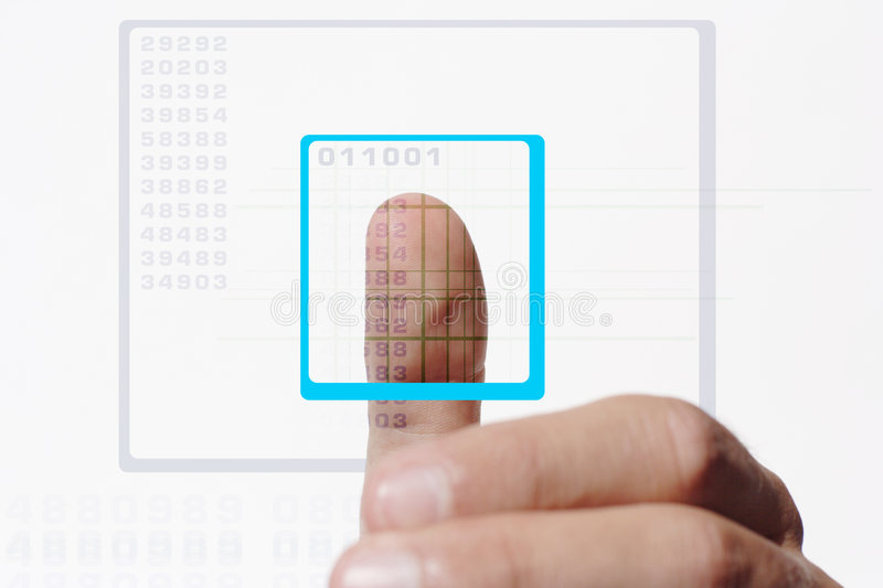 Download Thumb scan stock illustration. Illustration of guarded - 948776