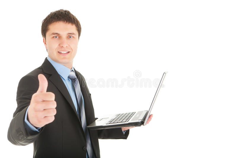 Download Thumb up stock image. Image of laptop, portrait, concept - 19132497