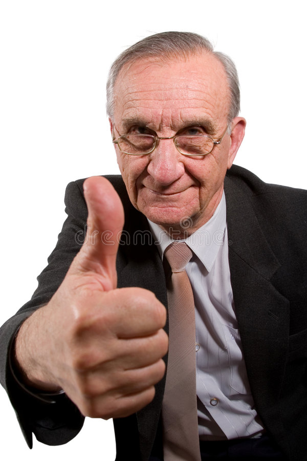 Thumb up! stock photos