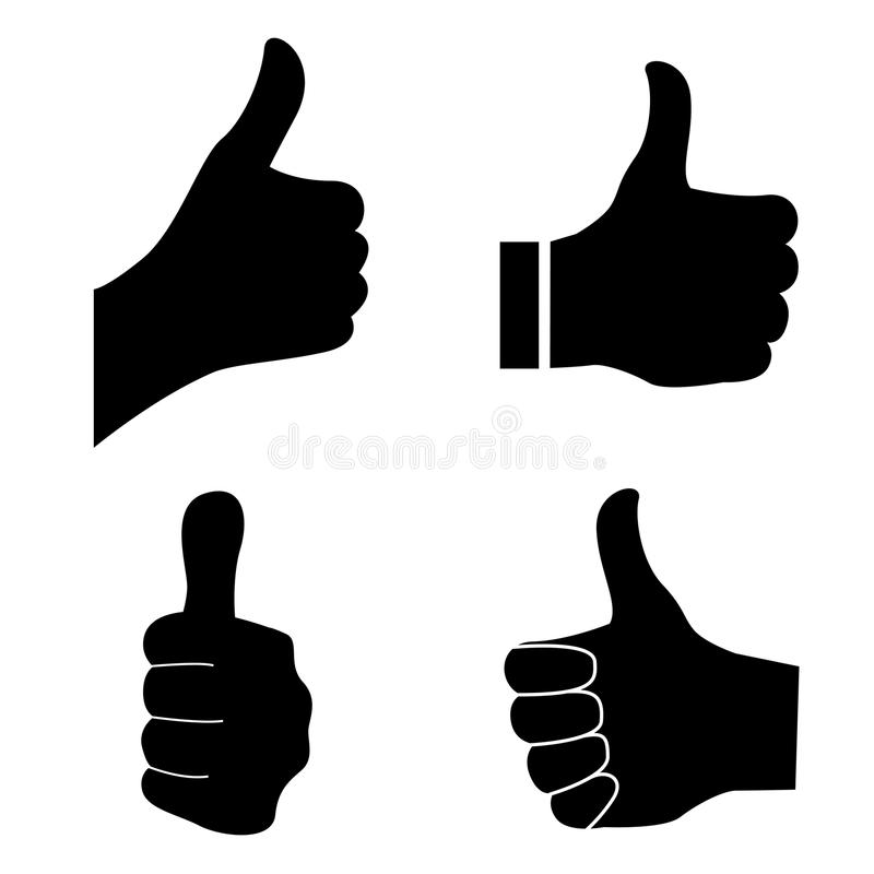 Thumb up. Thumbs up illustrations isolated on white background royalty free illustration