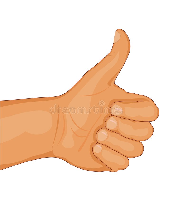 Download Thumb up stock vector. Image of illustration, ratification - 4527855