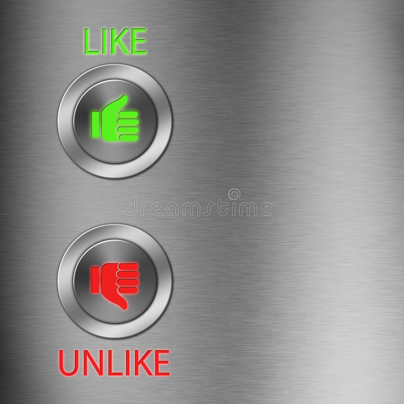 Free Thumb Up And Down Metalic Button Royalty Free Stock Photo - 24807205