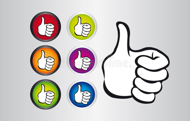 Thumb up buttons stock illustration