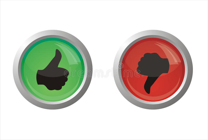Download Thumb up or down stock vector. Illustration of down, approve - 22553753