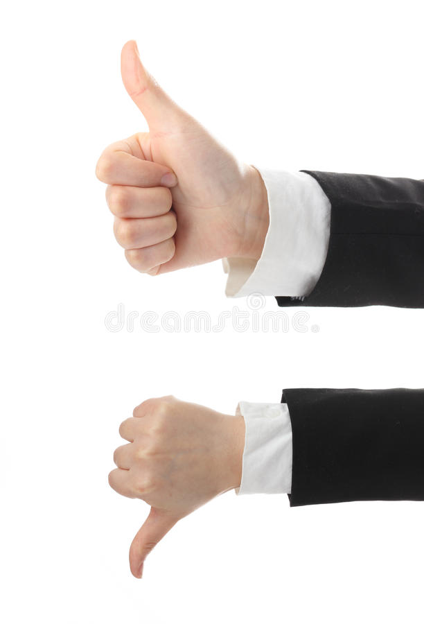 Download Thumb Up And Down Stock Photo - Image: 24307370