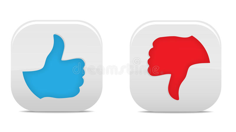 Thumb Up And Down Buttons royalty free illustration