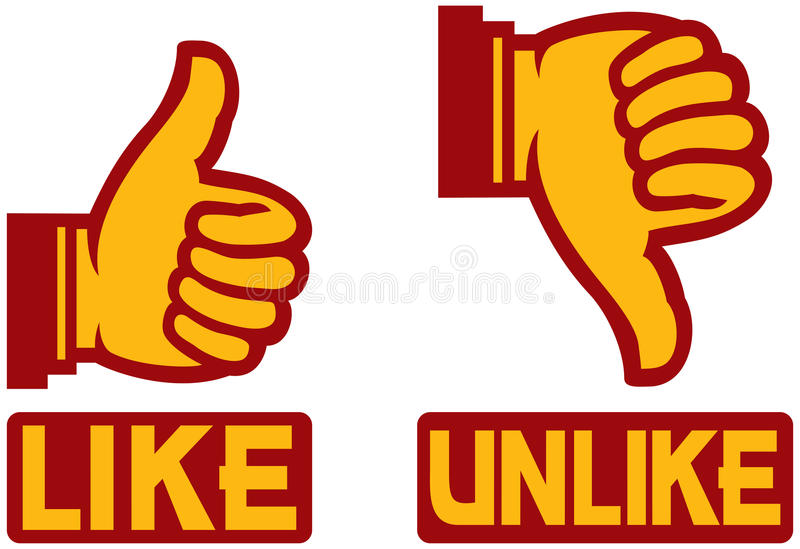 Thumb Up And Down Gesture Royalty Free Stock Image