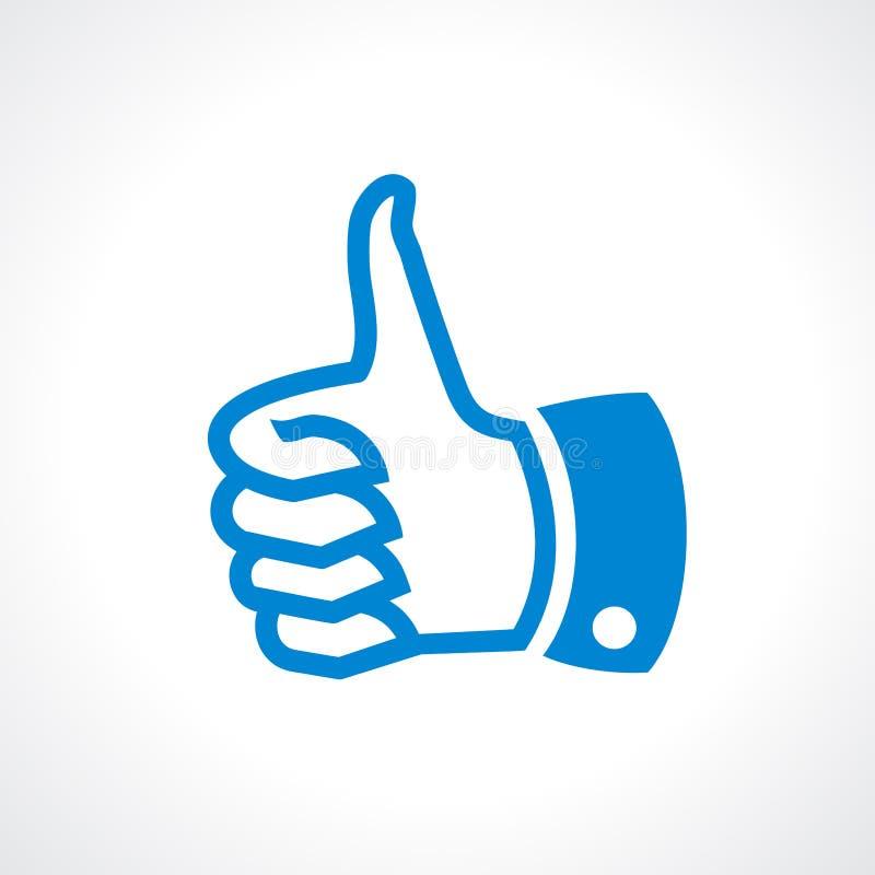 Thumb up vector illustration