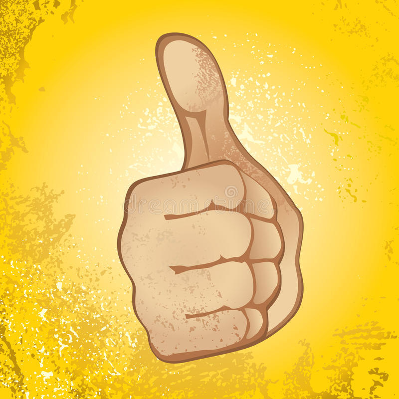 Thumb Up Gesture stock illustration