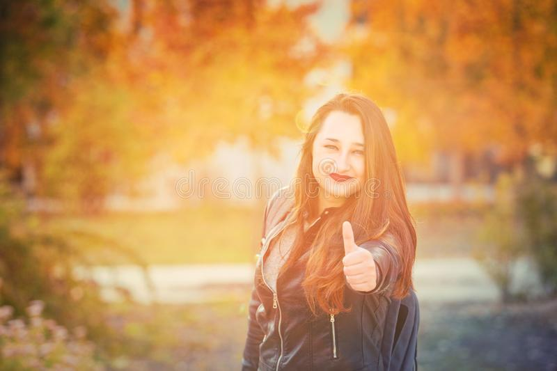 Thumb up gesture royalty free stock photography