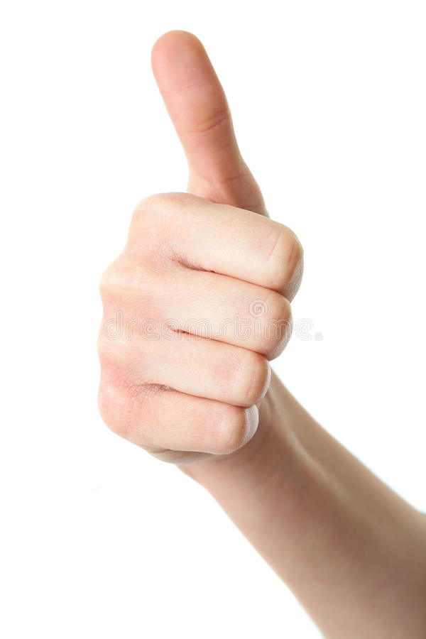 Download Thumb Up Gesture Isolated On White Stock Photo - Image of positive, accept: 18148672