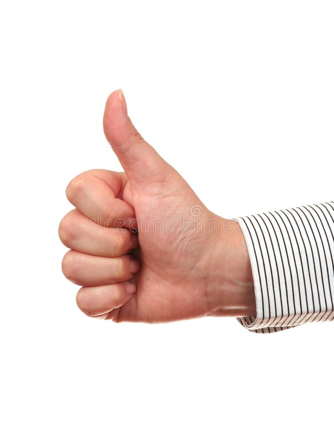 Thumb up gesture OK royalty free stock photos