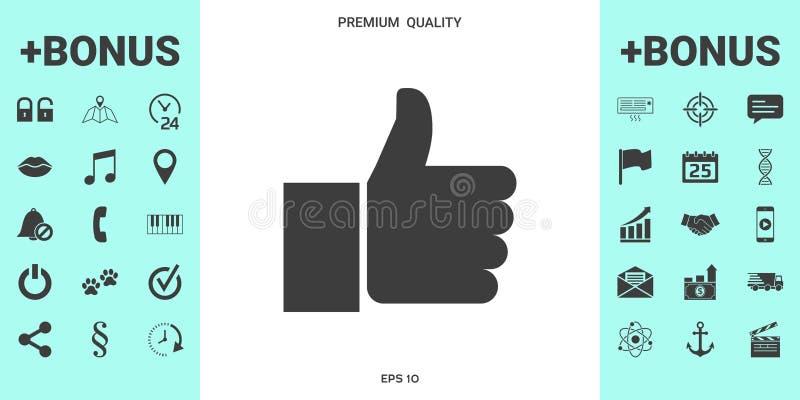 Thumb up gesture stock illustration