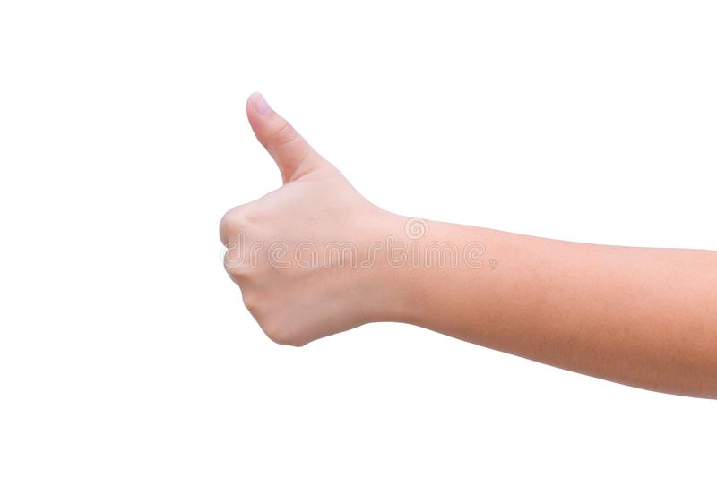 Thumb up hand good like posture royalty free stock images