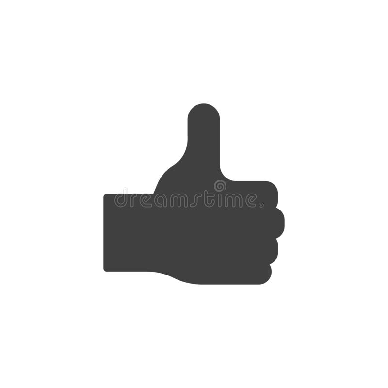 Thumb up, hand vector icon. Filled flat sign for mobile concept and web design. Like, hand gesture glyph icon. Symbol, logo illustration. Vector graphics vector illustration