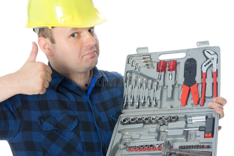 Thumb up handyman royalty free stock photos