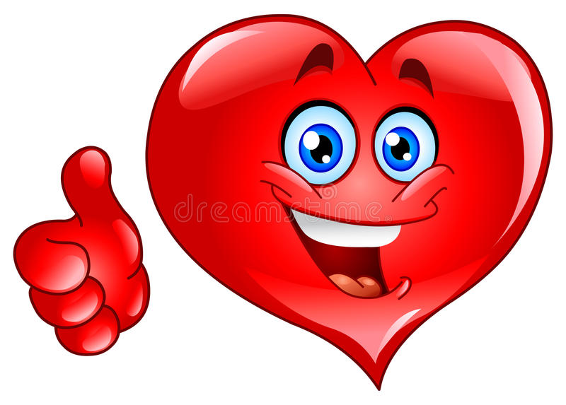 Thumb up heart stock illustration