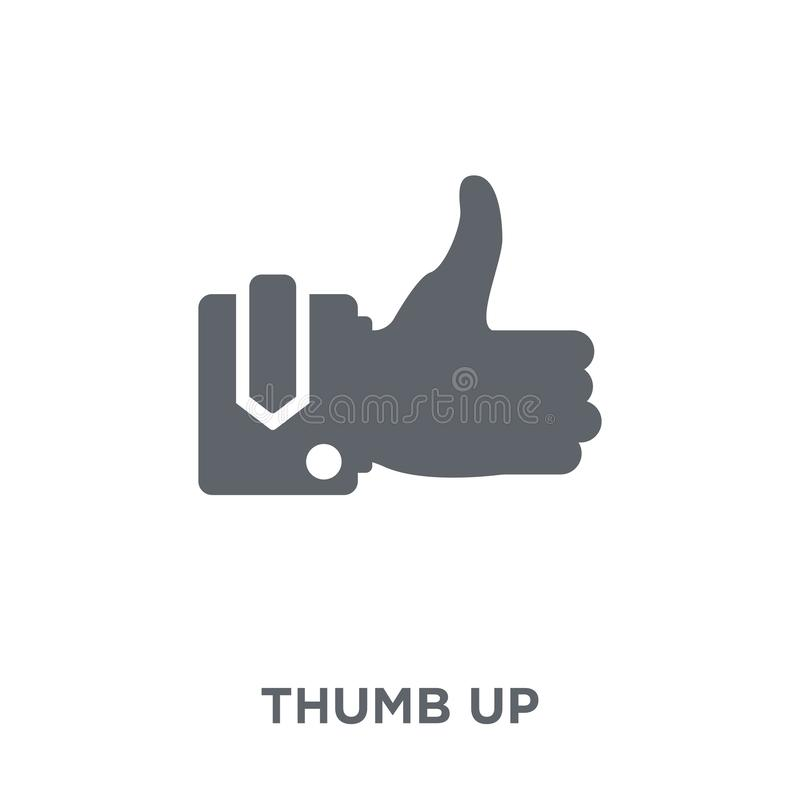 Thumb up icon from collection. royalty free illustration