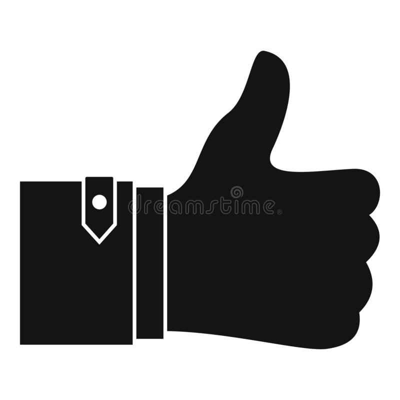 Thumb up icon, simple style. Thumb up icon. Simple illustration of thumb up vector icon for web design isolated on white background vector illustration