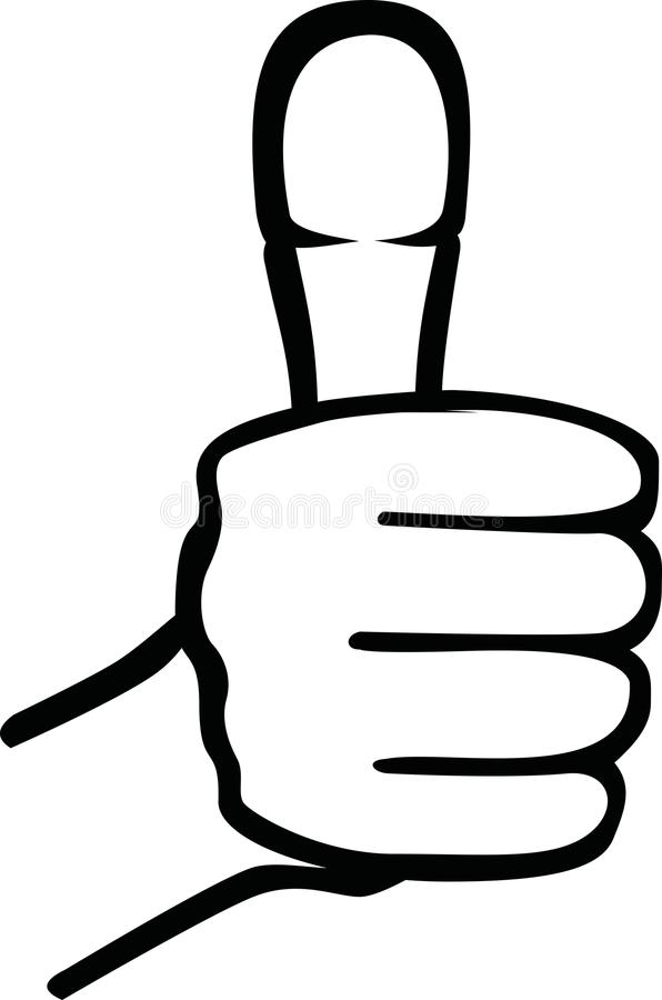 Thumb up icon royalty free illustration