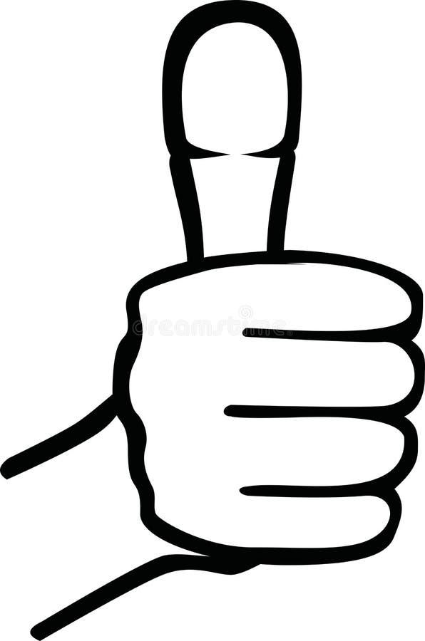 Thumb up icon. Success motivation royalty free illustration