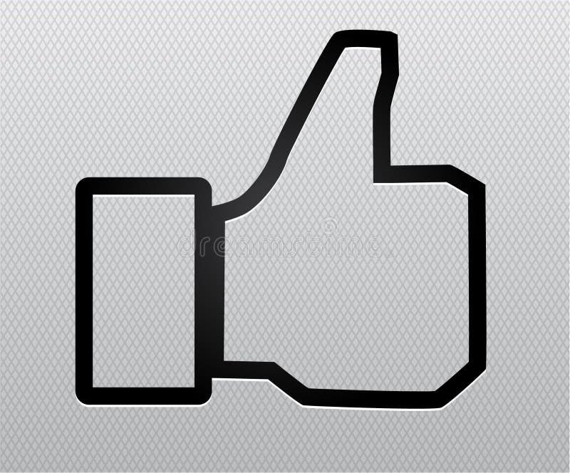 Thumb up like. Vector illustration background stock illustration