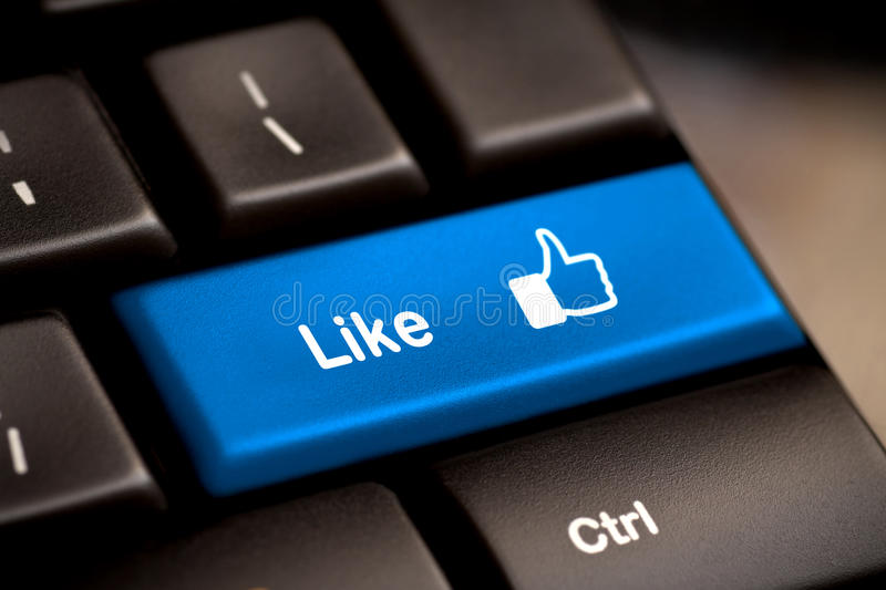 Thumb Up Like Button key royalty free stock images