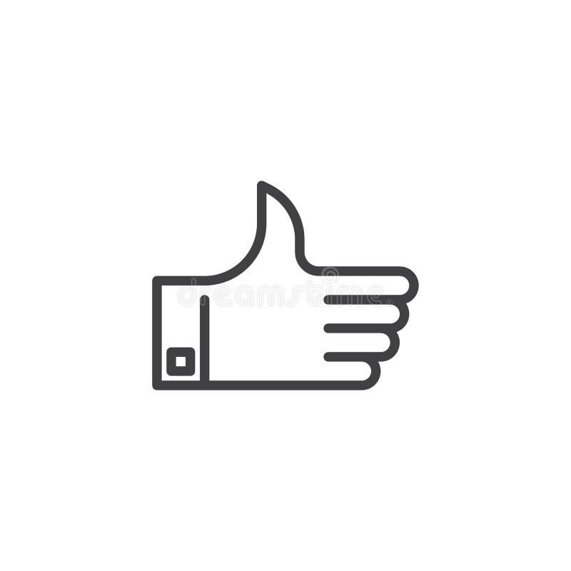 Thumb up line icon stock illustration