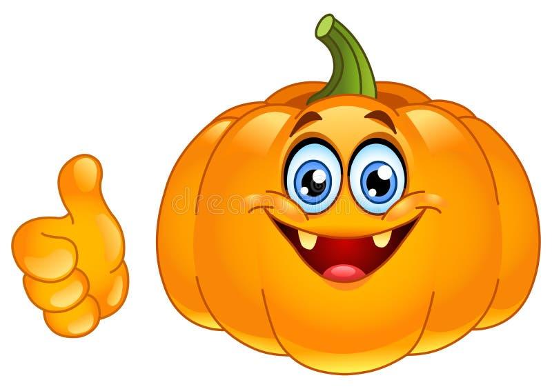 Download Thumb up pumpkin stock vector. Image of autumn, lantern - 21464347